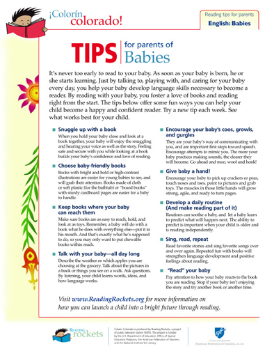 Reading Tips for Parents of Babies