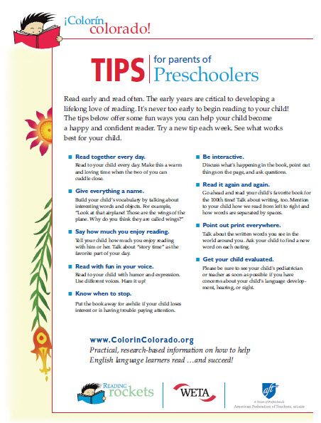 Preschool tip sheet