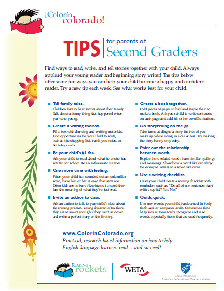 First grade tip sheet