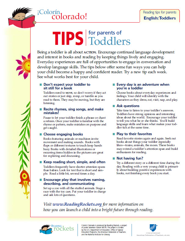 Toddlers tip sheet