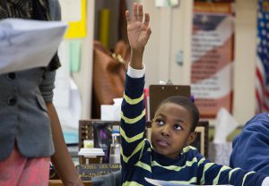 Chrispin Alcindor at P.S. 397 in Brooklyn. Credit Ruth Fremson/The New York Times