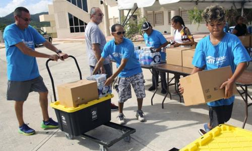Relief efforts after Hurricane Maria