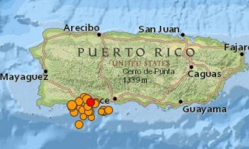 Map: Puerto Rico Earthquakes (USGS)