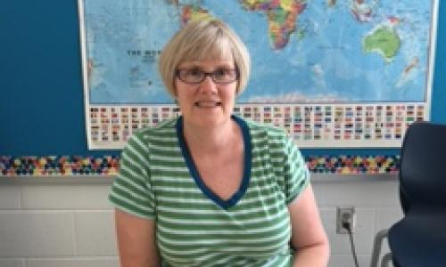 Kimberley Mathews. an ESOL teacher.