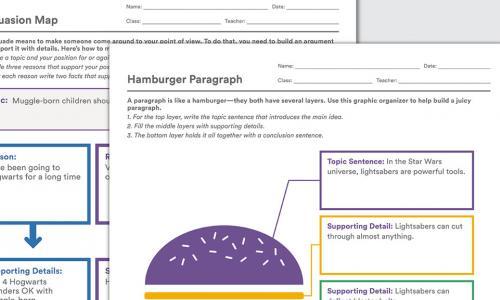 Sample of graphic organizer