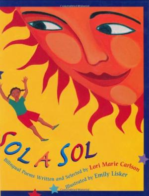 Sol a Sol cover showing sun and person flying in the sky.