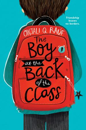 Illustration of a boy wearing a red backpack.