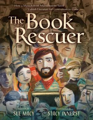 Drawing of a large group of people surrounding by a man with a beard and a book.