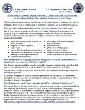 LEP parent fact sheet