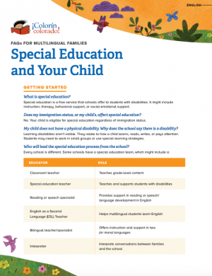 Special Education and Your Child: Introduction for Multilingual Families