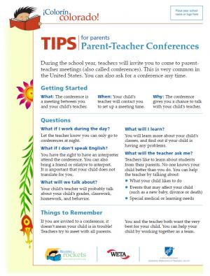 Tips for parents parent teacher conferences colorn colorado during the school year teachers will invite you to come to parent teacher meetings also called conferences this is very common in the united states altavistaventures Images