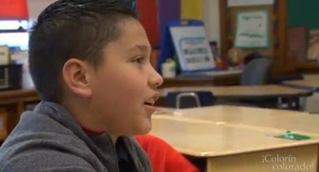 profile of boy talking