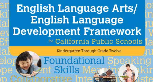 Cover of English Language Arts/English Language Development Framework.