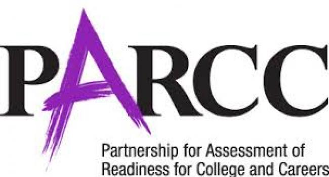 Black and purple Partnership for Assessment of Readiness for College and Careers logo.