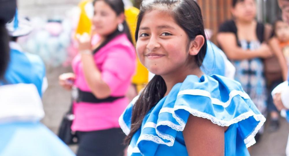 Guatemalan girl in parade